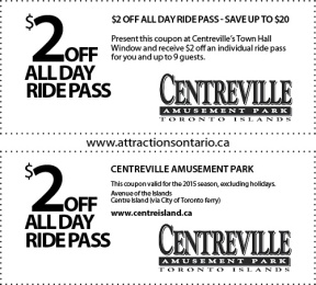 Coupon, Attraction Ontario Coupon, Day Trips Ontario,