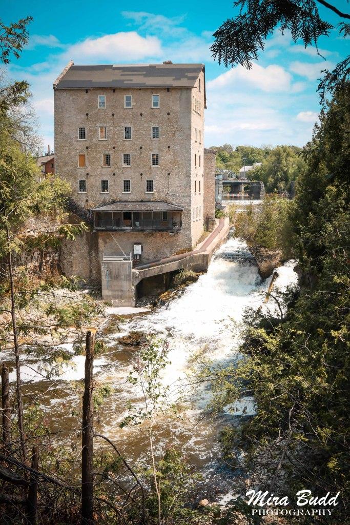 Mills in Ontario, Ontario Mill Ruins, Old Mills in Ontario, Elora Mill Ruins, Things to see in Ontario, Things to See in Elora, Waterfalls Ontario, Elora Waterfalls,