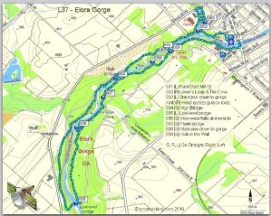 Elora Gorge Hiking Map, Elora Gorge Conservation Area, Hiking Trails in Elora, Ontario Hiking Trails,