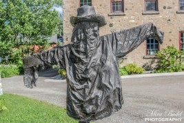 Scarecrow at the Alton Mill Arts Centre, Hiking Trails in Ontario, Things to see in Ontario, Beautiful Places in Ontario,