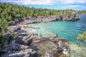 Indian Head Cove, The Grotto, Hiking Trails Ontario, Bruce Trail, Tobermory Ontario, The most Beautiful Places in Ontario, Amazing Places in Ontario,