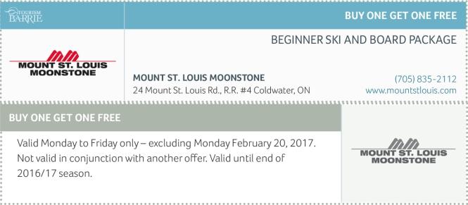 Mount St. Louis Moonstone Ski Coupons, Coupons Ontario, Ski Coupons 2017,