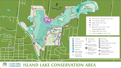 Island Lake Conservation Area, Ontario Hiking Trails, Hiking Trails in Orangeville Ontario, Island Lake Conservation Area Map, Caledon Ladies Hiking Group,