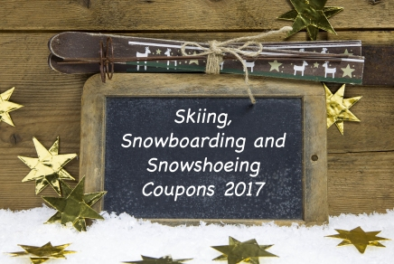 Skiing, Snowboarding and Snowshoeing Coupons2017