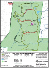 Hiking Trails Ontario, Cold Creek Trail Map, Caledon Snowshoeing,